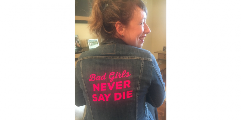 Bad Girls Never Say Die Jennifer Mathieu Denim Jacket